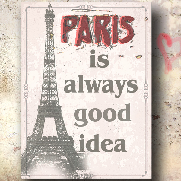 Nástěnný obraz Paříž