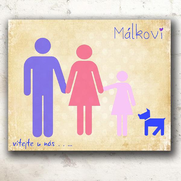 Rodinný obraz nebo svatební dárek pro ty, co už mají náskok