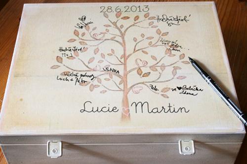 Svatební krabice, svatební dar krabice na fotky a přání