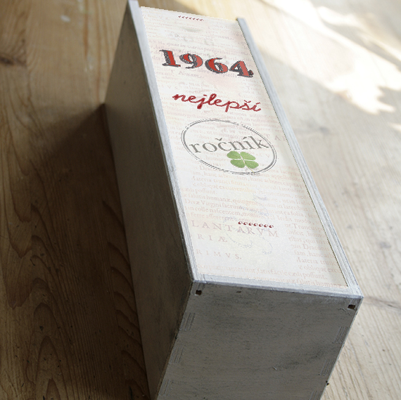 dárek k padesátinám, krabice na víno