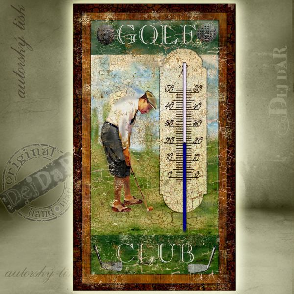 Teploměr pokojový golf I.