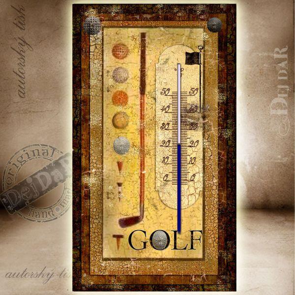 Teploměr pokojový golf II.