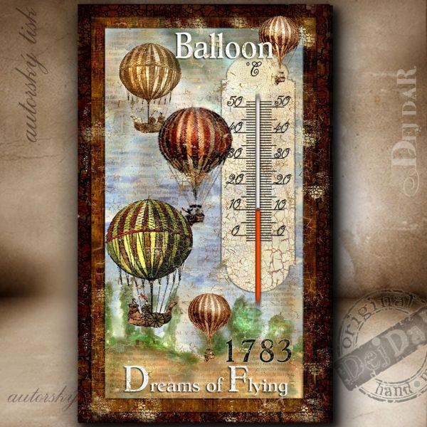 Teploměr pokojový balon