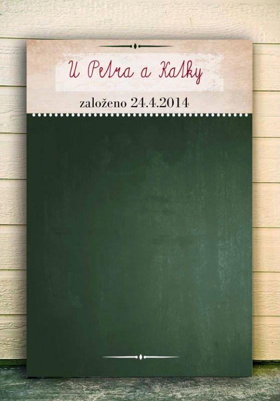 Svatební tabule, tip na svatební dar