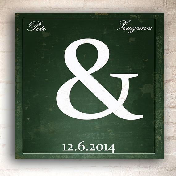 svatební tabule s nápisem