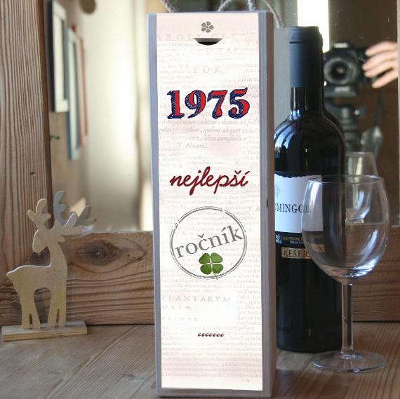 dárek ke 40. narozeninám, krabice na víno