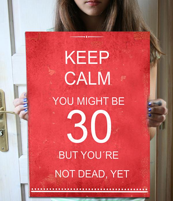 Dárek ke 30. narozeninám, originální cedule