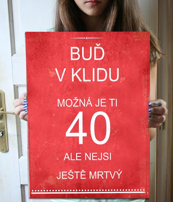 Dárek ke 40. narozeninám, originální cedule