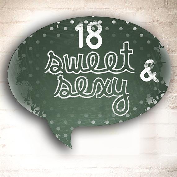 Dárek k 18.narozeninám, originální cedule