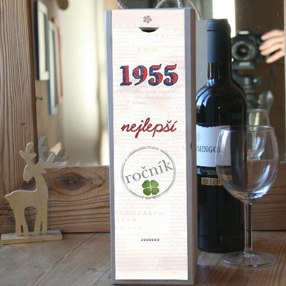 Originální dárek k 60. narozeninám, krabice na víno