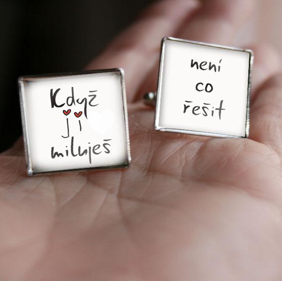 Svatební manžetové knoflíčky