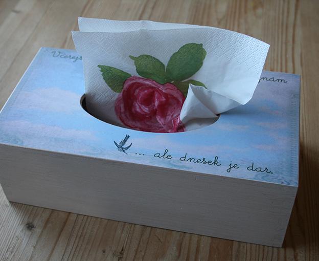 krabička na kapesníky, originální dárek pro radost