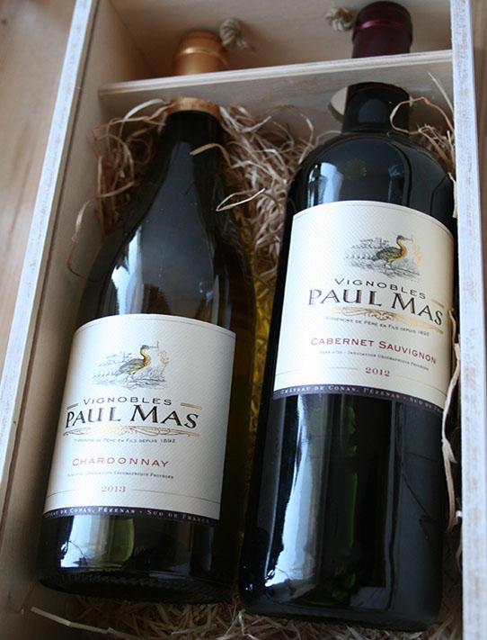 Vánoční dárek, krabice na víno
