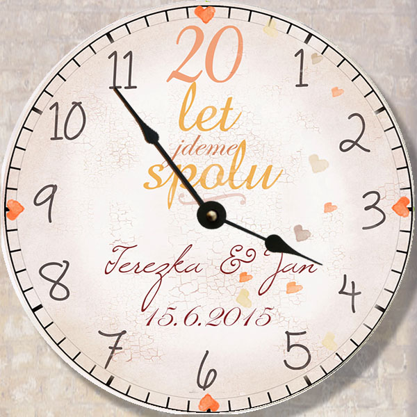 dárek k výročí svatby, originální hodiny
