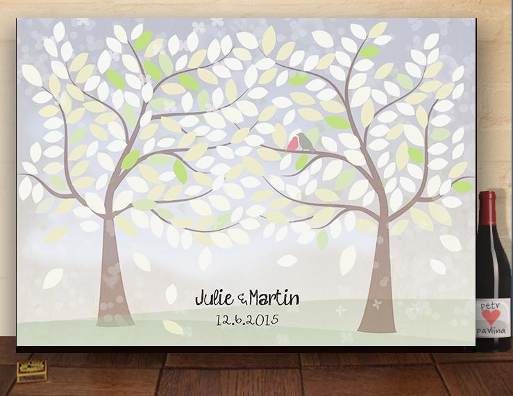 Svatební strom přání, originální kniha hostů