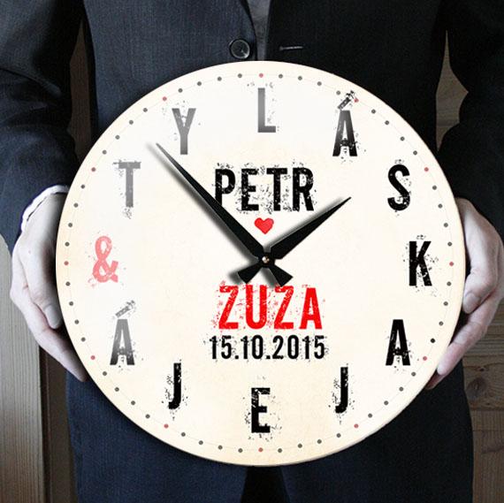Svatební hodiny, dárek ke svatbě nebo výročí