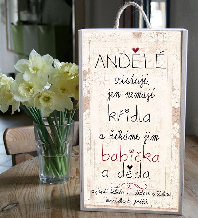 Kazeta na víno pro babičku a dědu