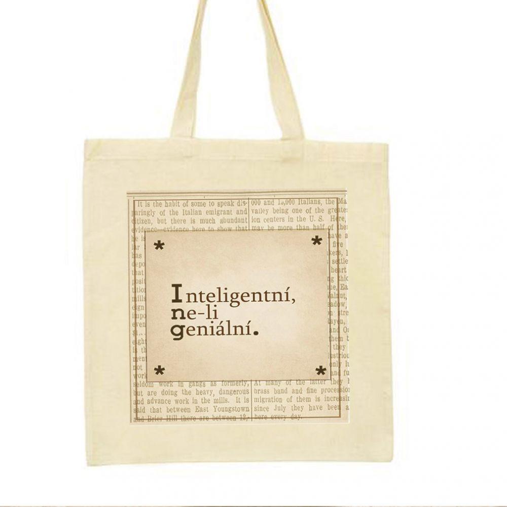 Plátěná taška s originálním potiskem k promoci pro všechny Ing.