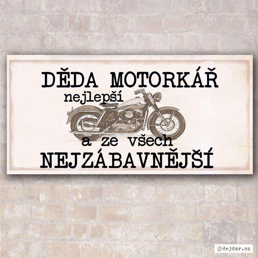 Cedulka pro dědu motorkáře