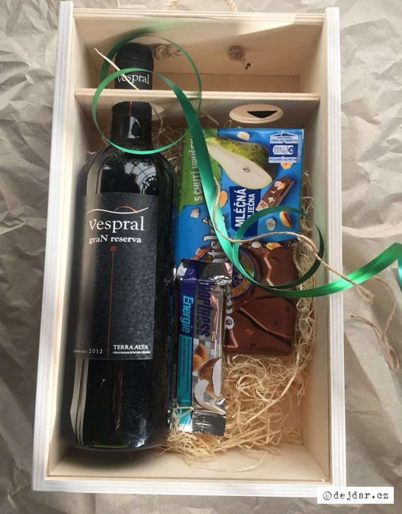 Box na víno k 50 narozeninám s autem