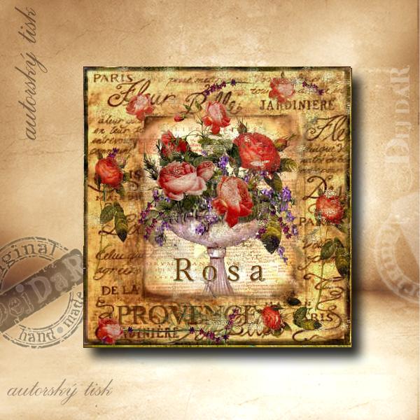 Obrázek čtvercový růže I.