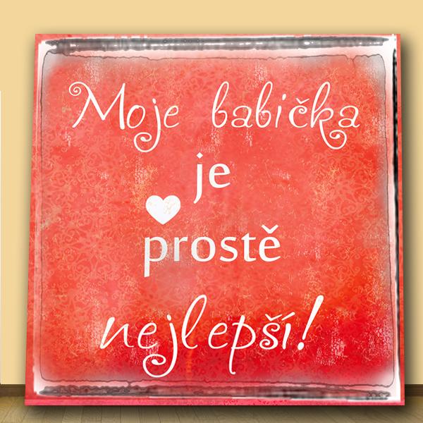 dárek pro babičku - originální obrázek na zeď