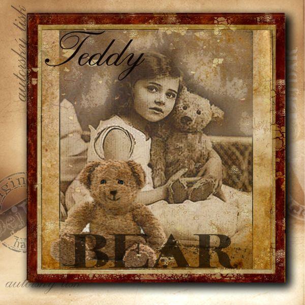 Obrázek čtvercový medvídci II.