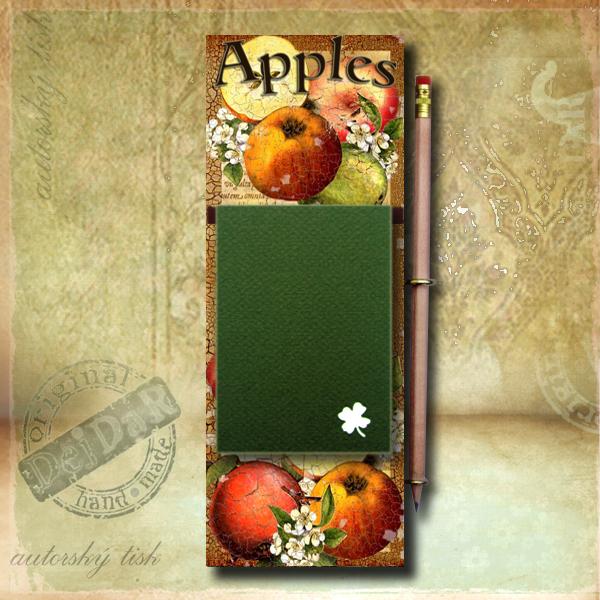Zápisník dekorace jablka