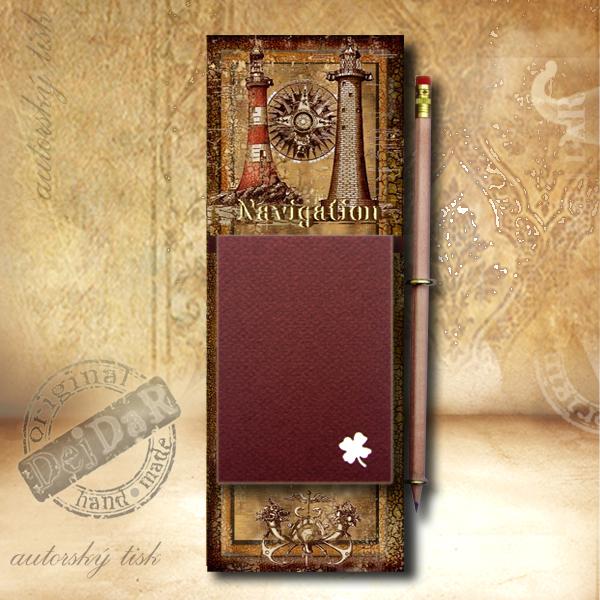 Zápisník dekorace maják