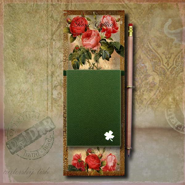 Zápisník dekorace růže I.