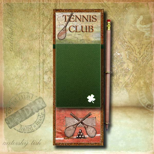 Zápisník dekorace tenis I.