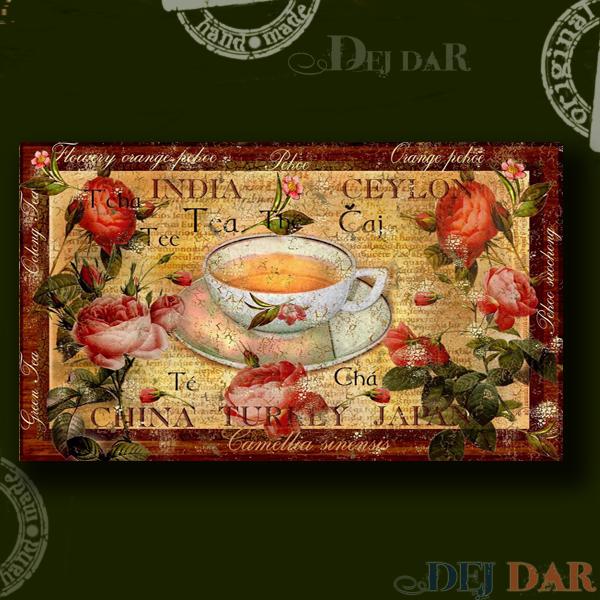 Krabice na čaj růže I.