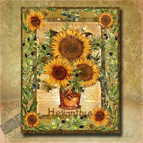 Obraz dekorace slunečnice II.