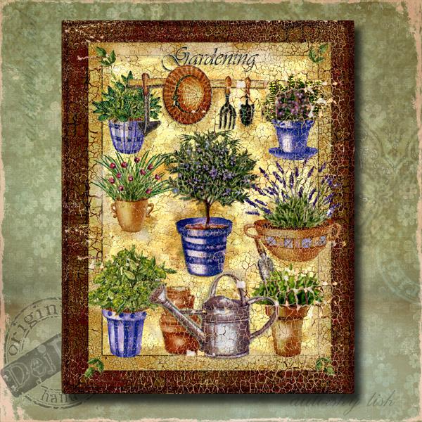 Obraz dekorace byliny I.