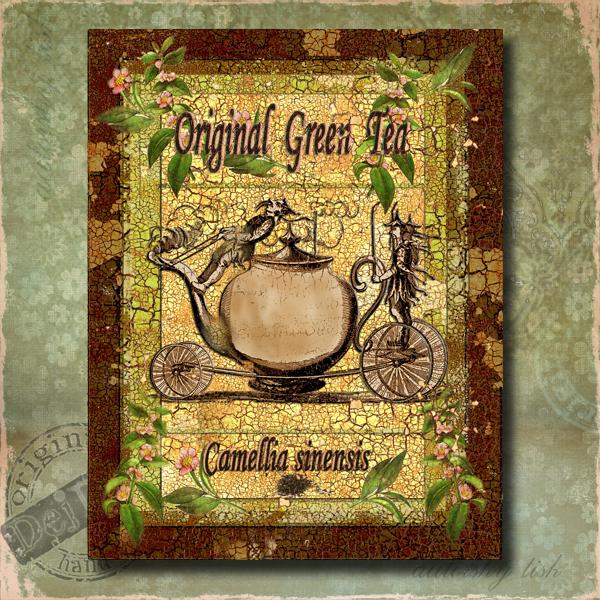 Obraz dekorace čaj