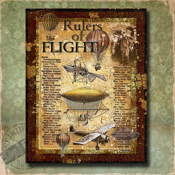 Obraz dekorace vzduchoplavci