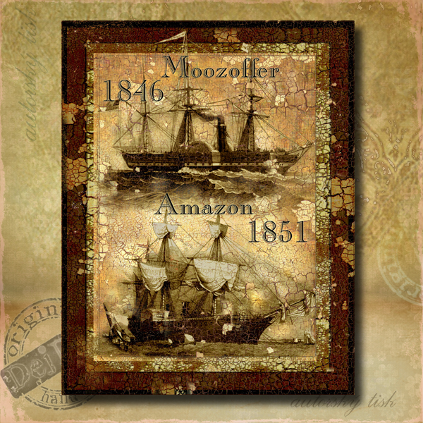 Obraz dekorace loď II.