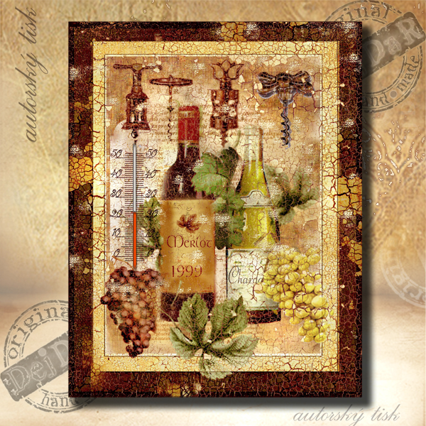 Teploměr dekorační v. víno