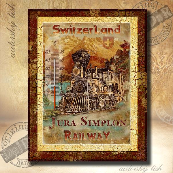 Teploměr dekorační v. vlak