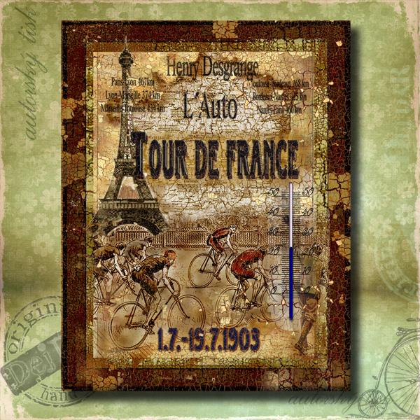 Teploměr dekorační v. Tour de France
