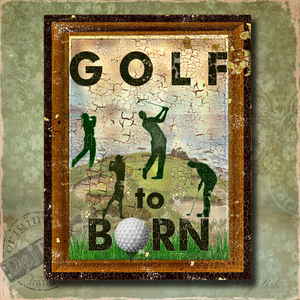 Obraz dekorace golf
