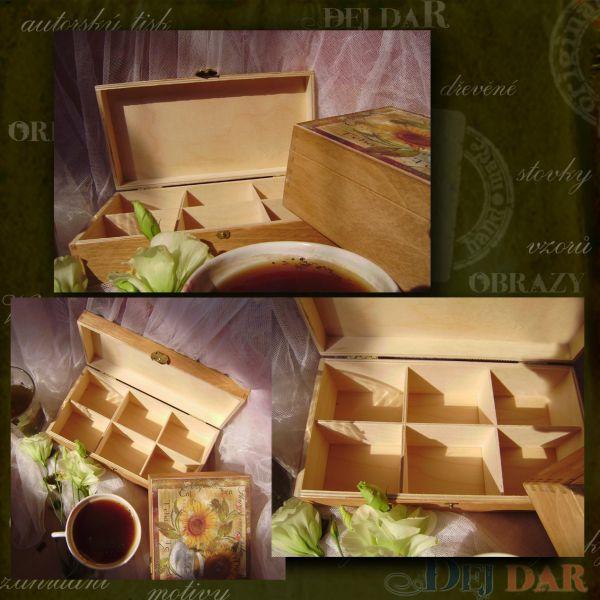 Krabice na čaj s motivem na zakázku I.