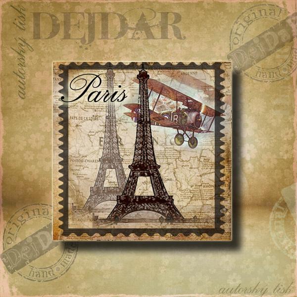 Magnet dekorační Paříž