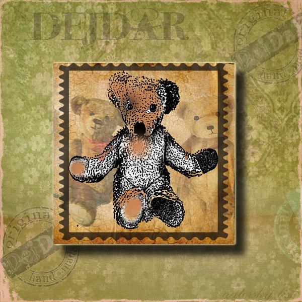 Magnet dekorační medvídek
