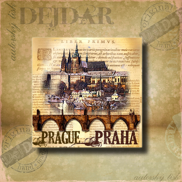 Magnet dekorační Praha VI.