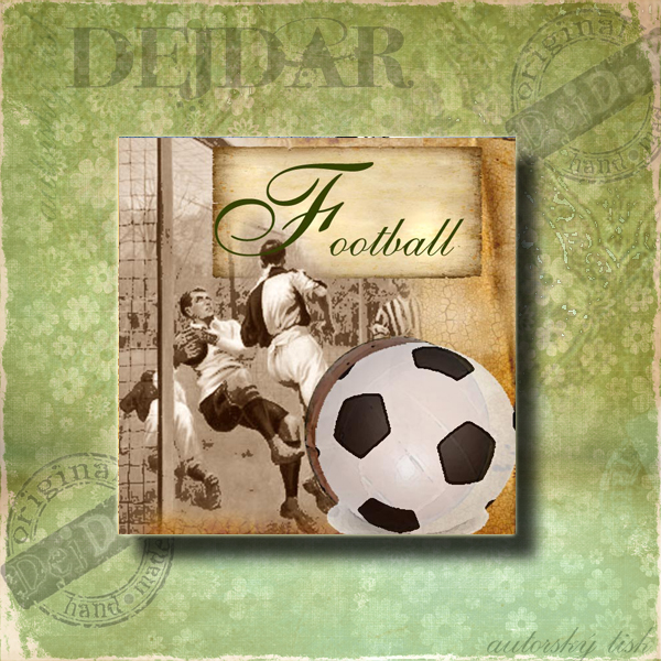 Magnet dekorační fotbal I.