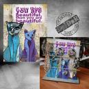 stojánek na šperky - kočky