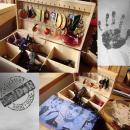 Dřevěná šperkovnice, motiv Londýn