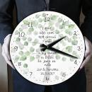 Velké svatební hodiny se svatebním citátem