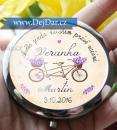 Svatební zrcátko - kolo, dárek